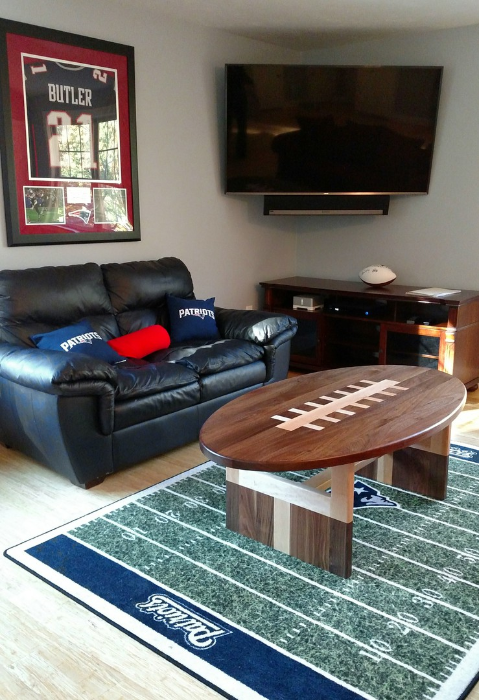 Football Shaped Coffee Table Modern Coffee Tables And